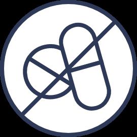 Drug-free pain relief icon