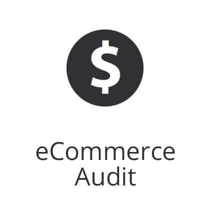 ecommerce audit and dollar sign icon
