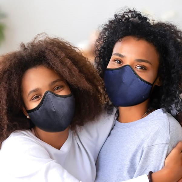 SoClean Face Mask 3-Pack: Adult Small Size, Navy/Grey/Black | SoClean, the Makers of Health Technology Products