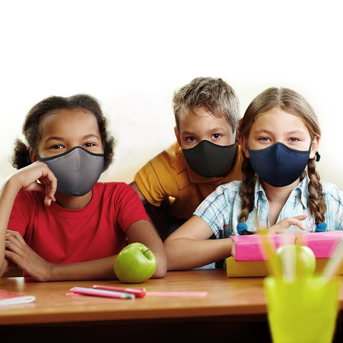 SoClean Face Mask 3-Pack: Youth/Small Size, Navy/Grey/Black | SoClean, the Makers of Health Technology Products