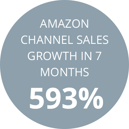 Amazon channel sales growth in 7 months 593%