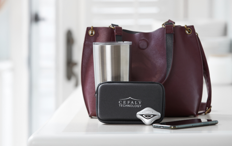 CEFALY migraine device on-the-go