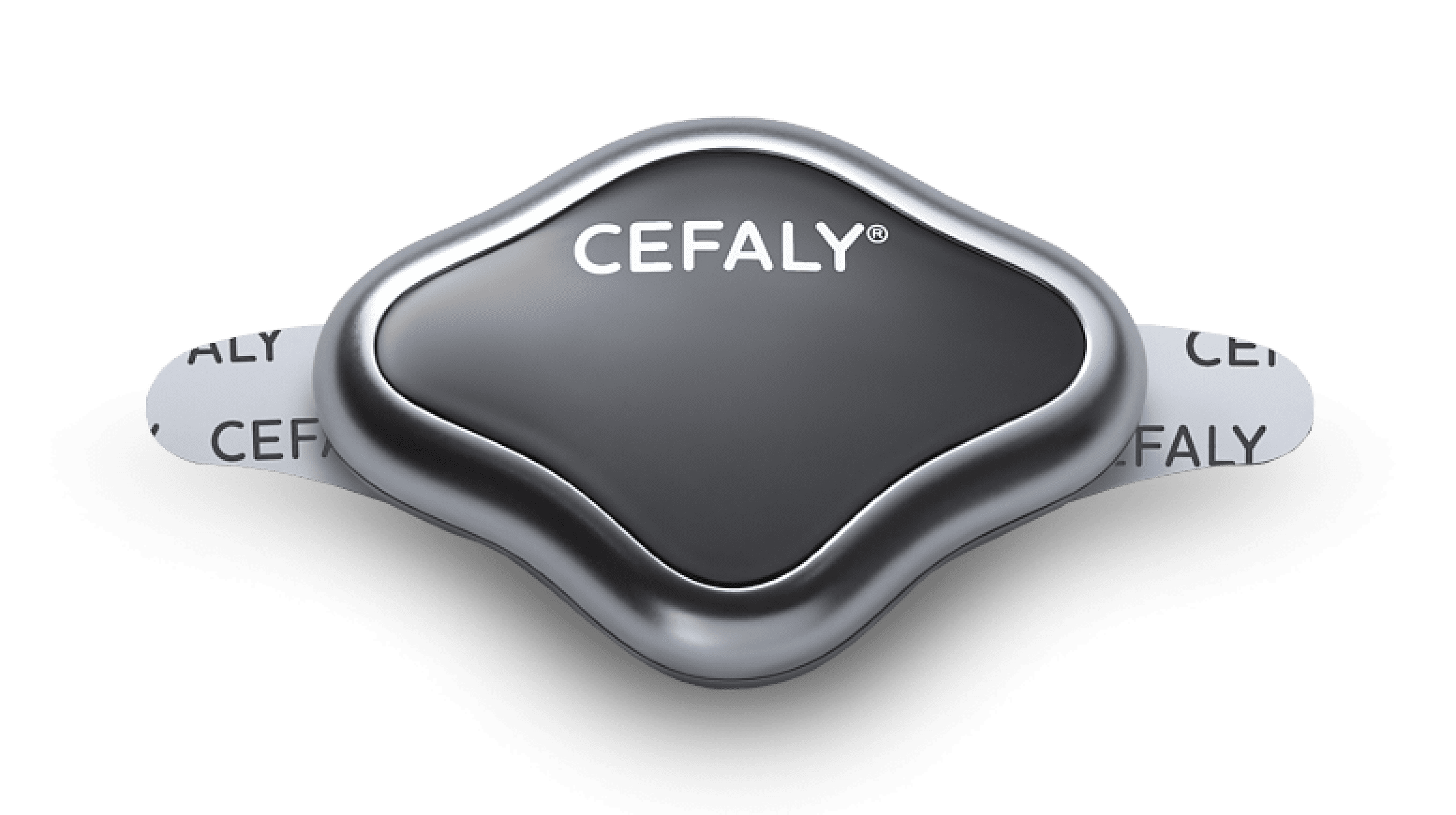 Woman using her cefaly device