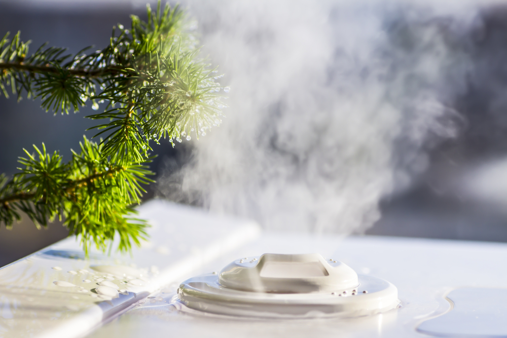 humidifier creating steam