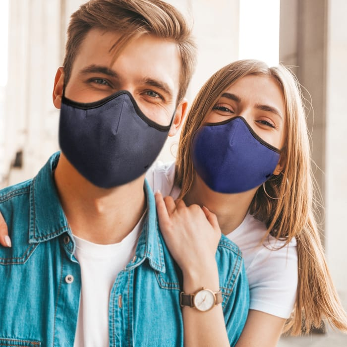 SoClean Face Mask 3-Pack: Adult Regular Size, Grey/Black/Blue | SoClean Lifestyle