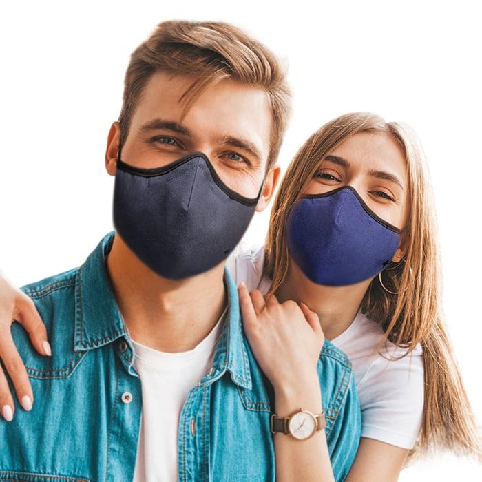 SoClean Face Mask 3-Pack: Adult Regular Size, Grey/Black/Blue | SoClean Lifestyle