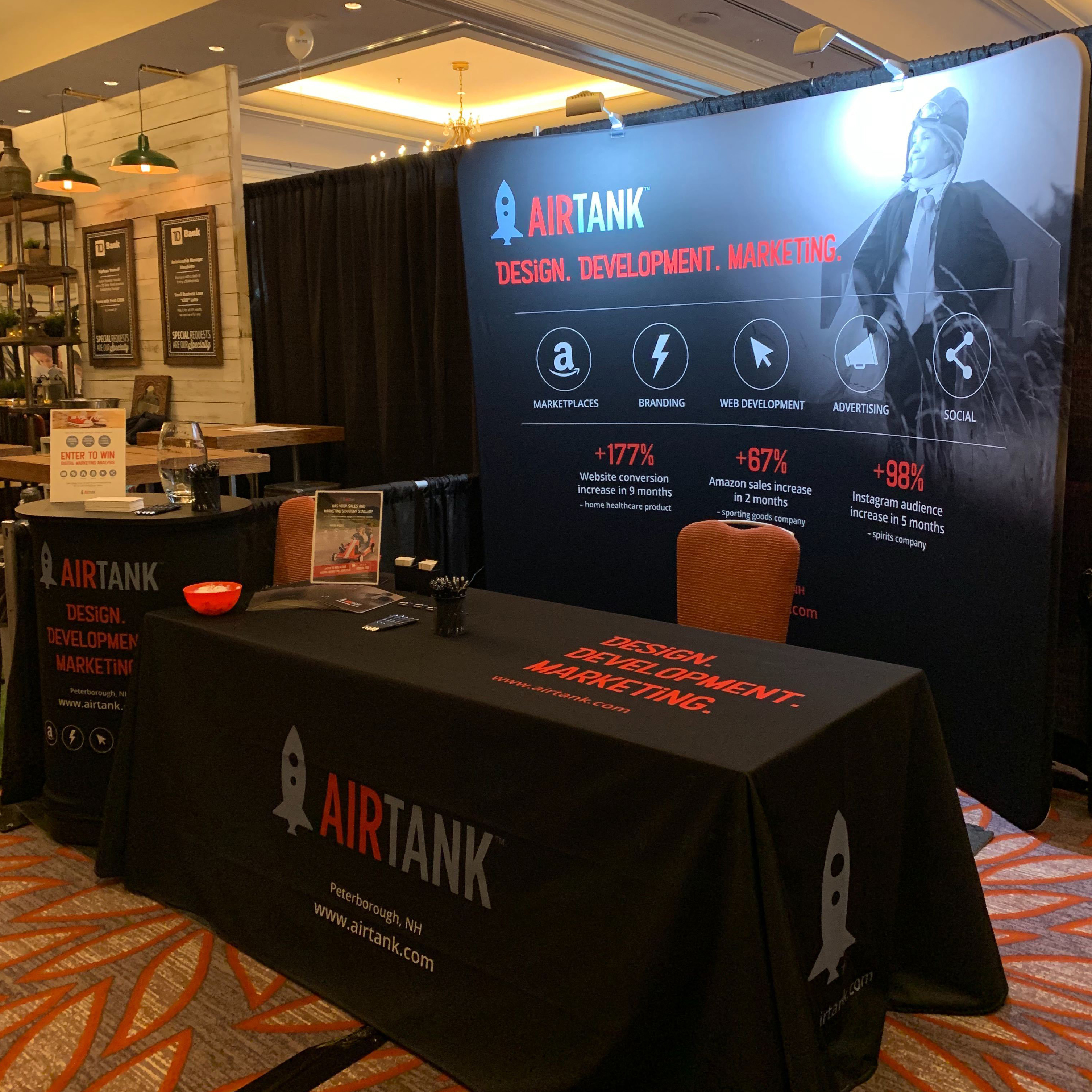Airtank booth at Small Business Expo in Boston