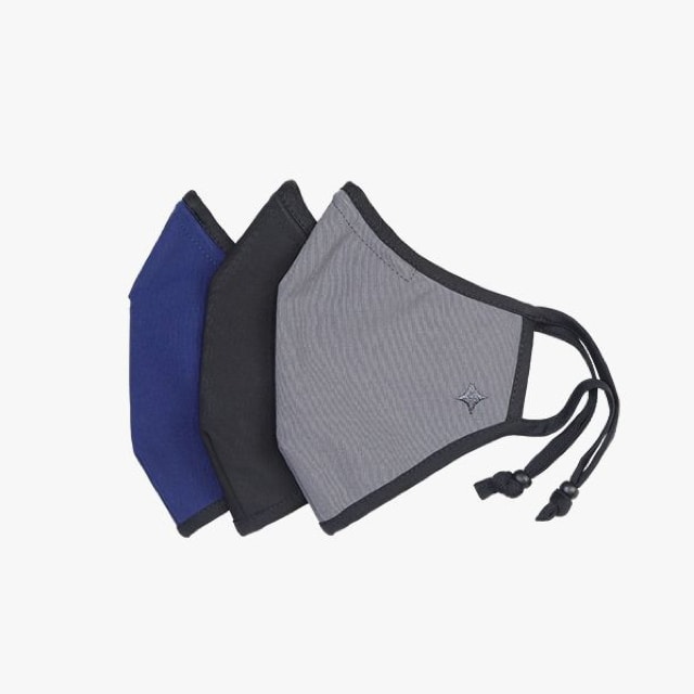 SoClean Face Mask 3-Pack: Adult Small Size, Grey/Black/Blue | SoClean, the Makers of Health Technology Products