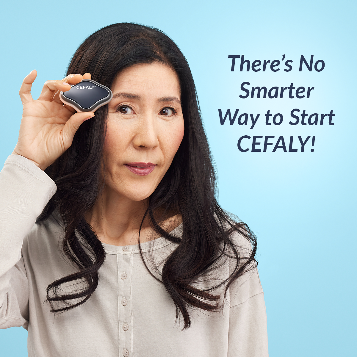 Product shot of Cefaly Migraine treatment and prevention device without electrode  2
