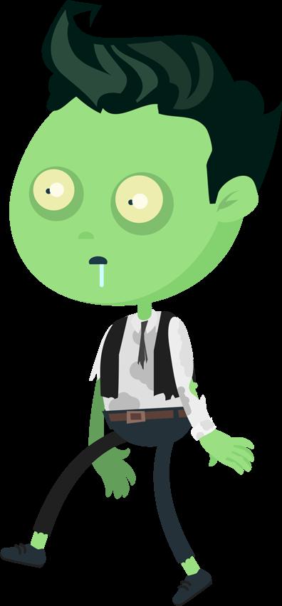 man cartoon zombie