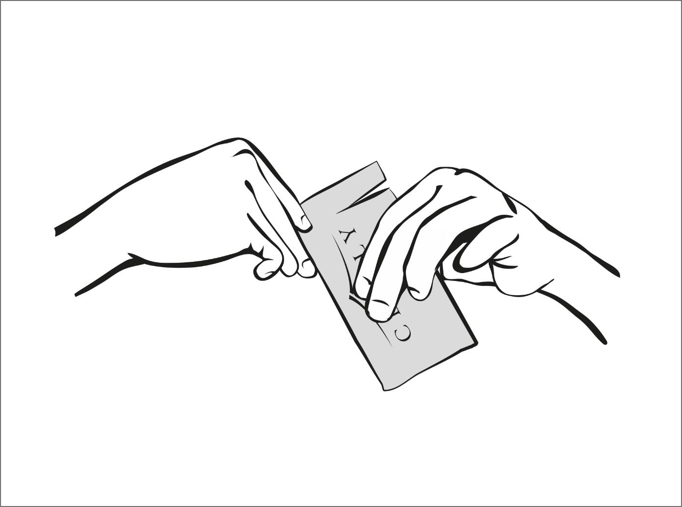 Illustration de l'étape 2 - Ouverture du pack d'électrodes