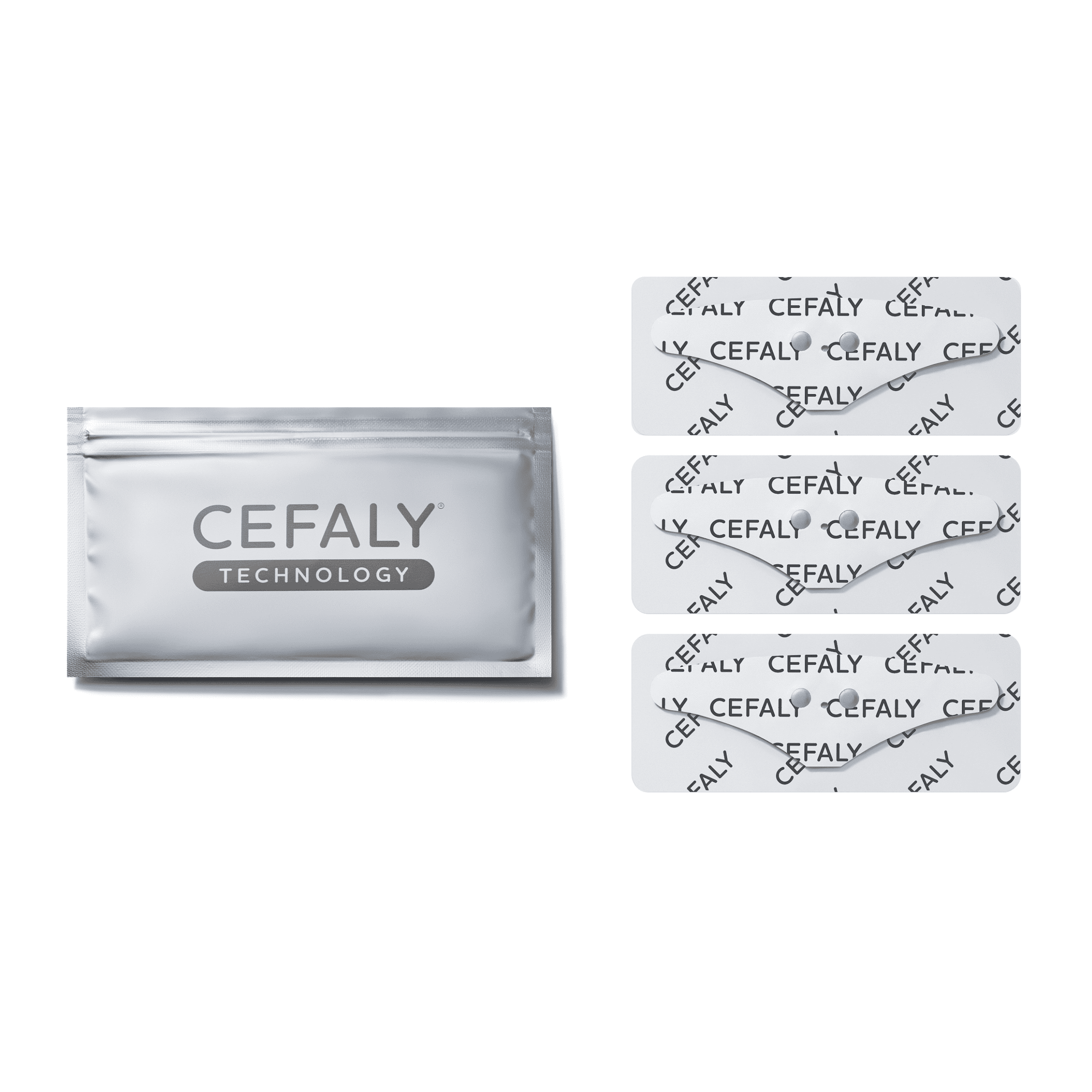 Cefaly Migraine treatment and prevention device with electrode laid out on work desk  5