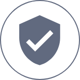 Cefaly safe and well shield and check icon