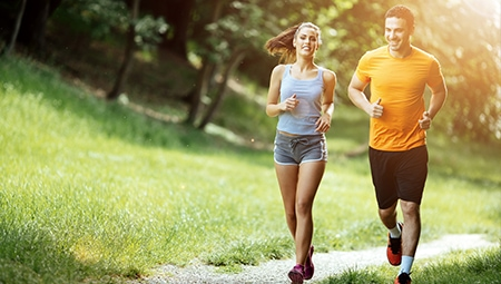 People jogging for healthy living.